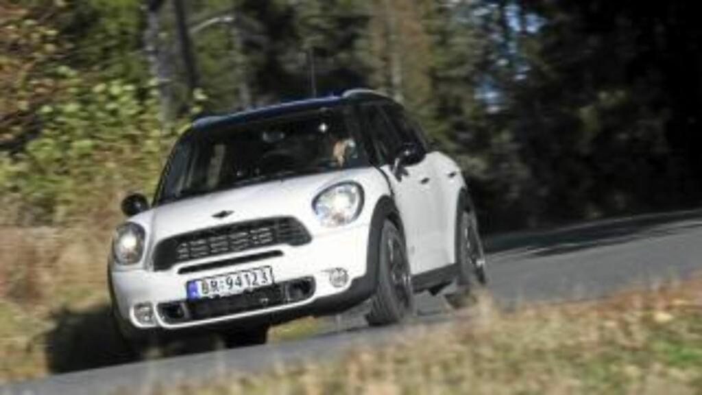 VEIGREP: Mini Countryman har de beste veiegenskaper i klassen for små crossovermodeller. Foto: Egil Nordlien HM Foto