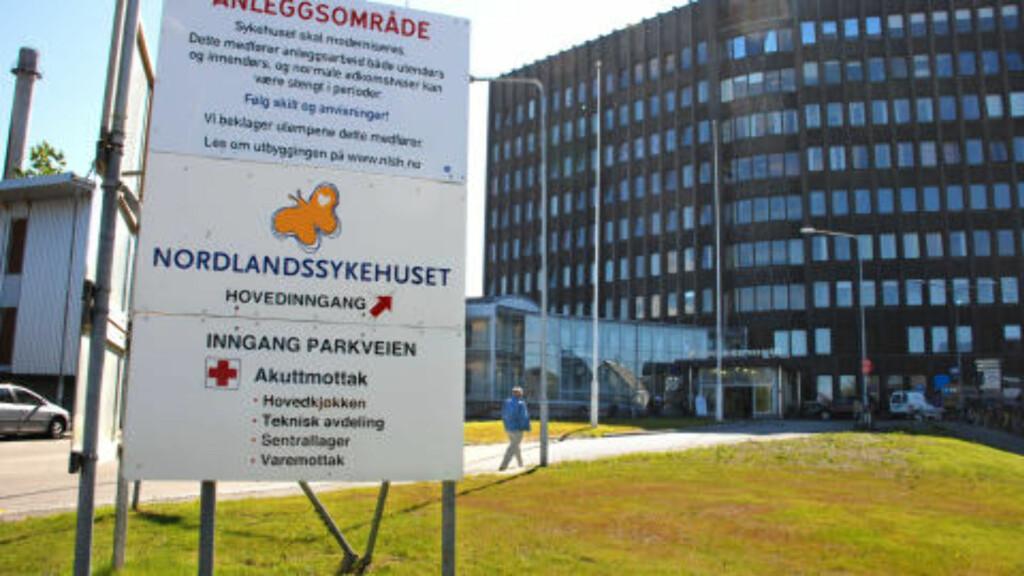 SLAKTES: Nordlandssykehuset (NLSH) i Bodø. Foto: Erik Veigård / SCANPIX
