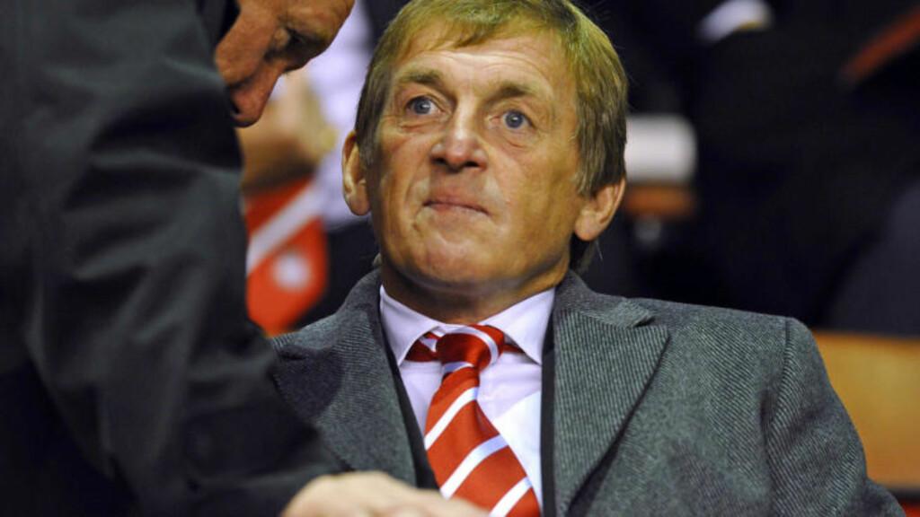 FANSENS FAVORITT: Tidligere storspiller og manager i Liverpool, Kenny Dalglish. Foto:  AFP PHOTO/PAUL ELLIS.