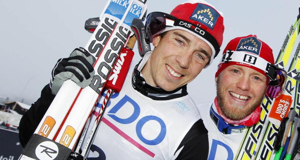 VIL SPARE KREFTER TIL VM: Eldar Rønning og Martin Johnsrud Sundby vil ikke delta i årets Tour de Ski.  Foto: Håkon Mosvold Larsen / Scanpix