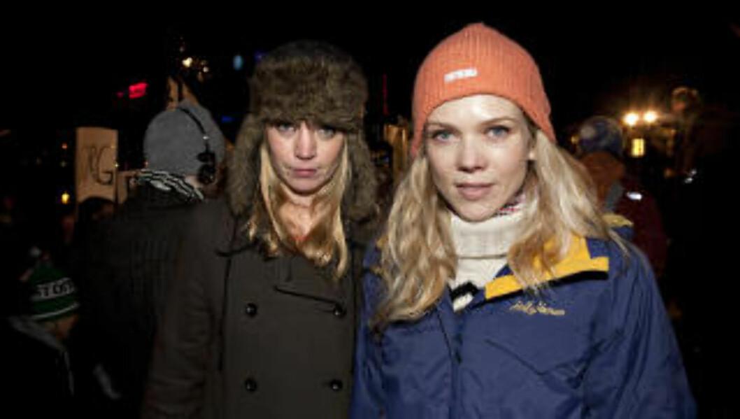 STØTTER, MEN SLITER IKKE: Ane Dahl Torp (t.h.) og Ingrid Olava, støtter «saken», men hevder at de ikke sliter med uønsket atferd ved egen omsorg.