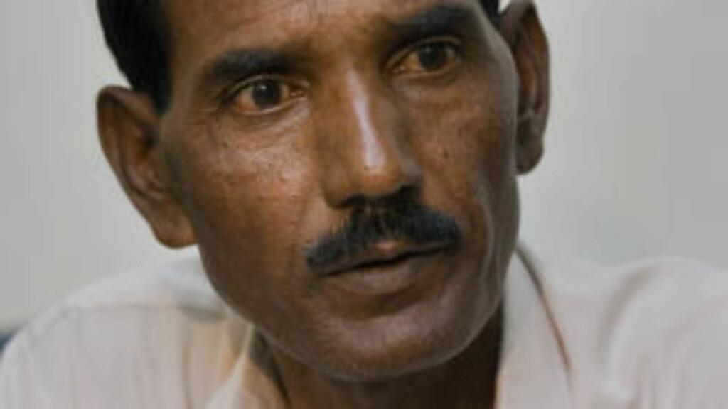 USKYLDIG:Ashiq Masih, mannen til Asia Bibi, sier i dag i et intervju til Assosiated Press at kona er uskyldig i anklagene mot henne. Foto: AP Photo/Anjum Naveed