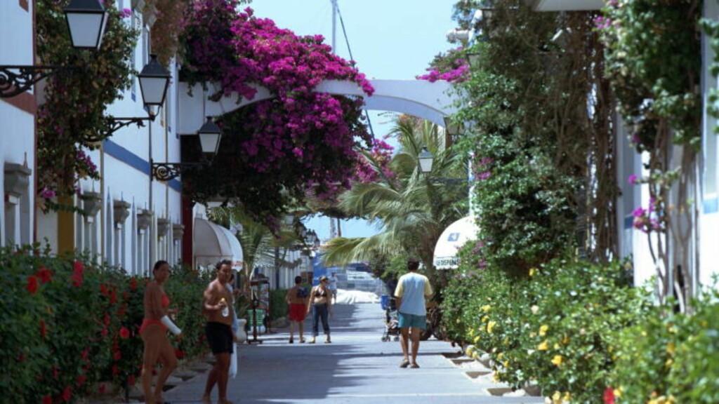 PUERTO de MOGAN: Her er et bilde fra Puerto de Mogan, en av de koseligste byene på Gran Canaria. Foto: ARNE W. HOEM/Dagbladet