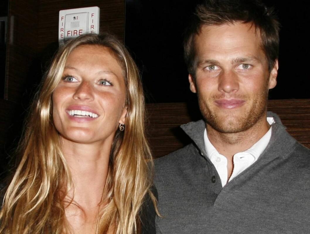 <strong>BRYLLUP:</strong> Ifølge Daily Mail har Tom Brady endelig fridd til sin smellvakre supermodellkjæreste.  Foto: All Over Press