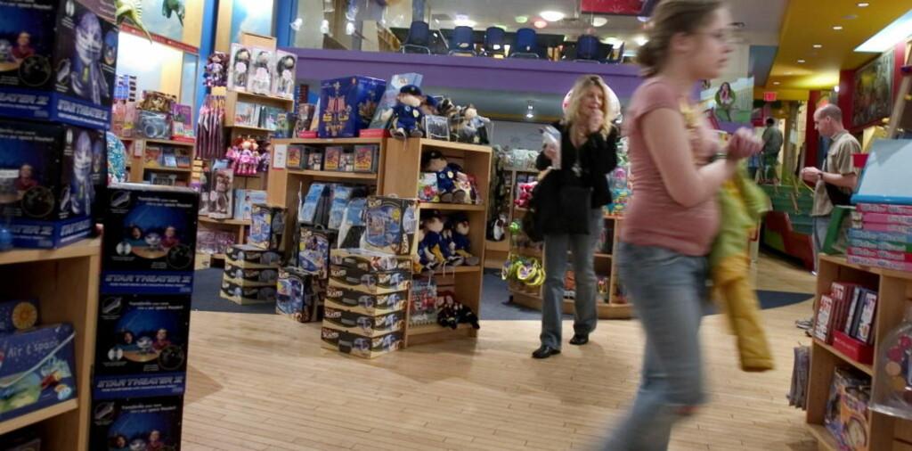 ENORMT UTVALG: Lekebutikken The Scholastic Store i Soho.  Foto: KRISTINE NYBORG