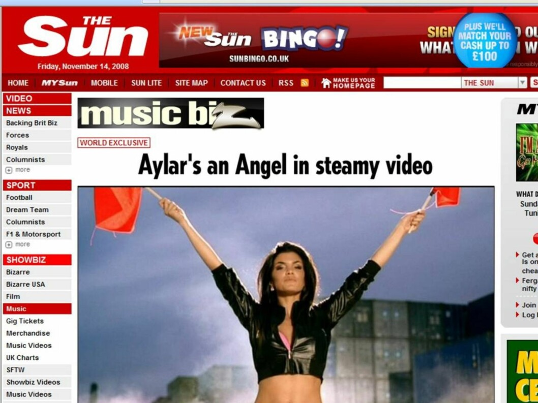 AUGUST 2008: Aylar får nok en gang overskrifter på grunn av en Basshunter video.