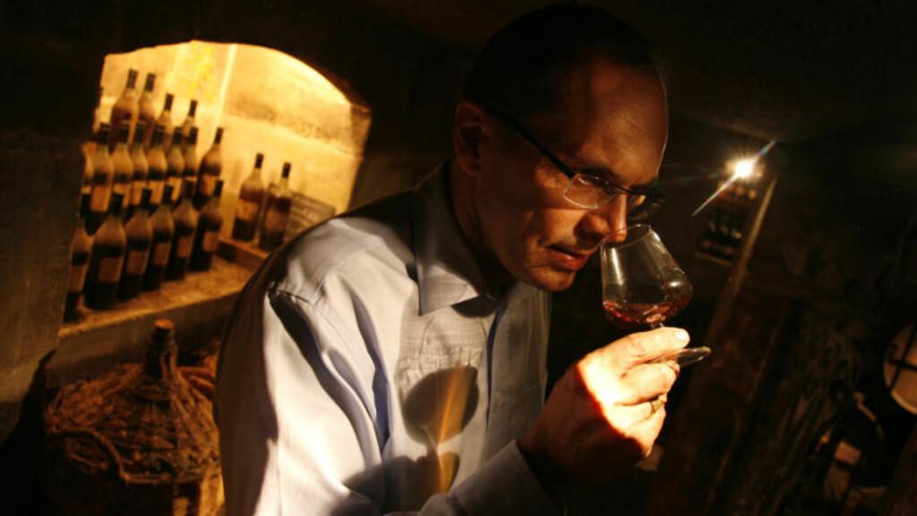 HEMMELIG: Blandemester Patrice Pinet  hos cognac-giganten Courvoisier overlater intet til tilfeldighetene når han setter sammen de forskjellige blandingene.
