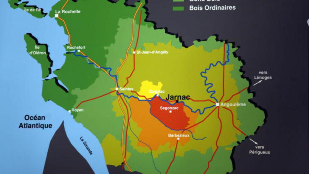 """GODT SELSKAP: For å bære betegnelsen """"cognac"""" må produksjonen foregå innen avgrensede områder i Sørvest-Frankrike."""