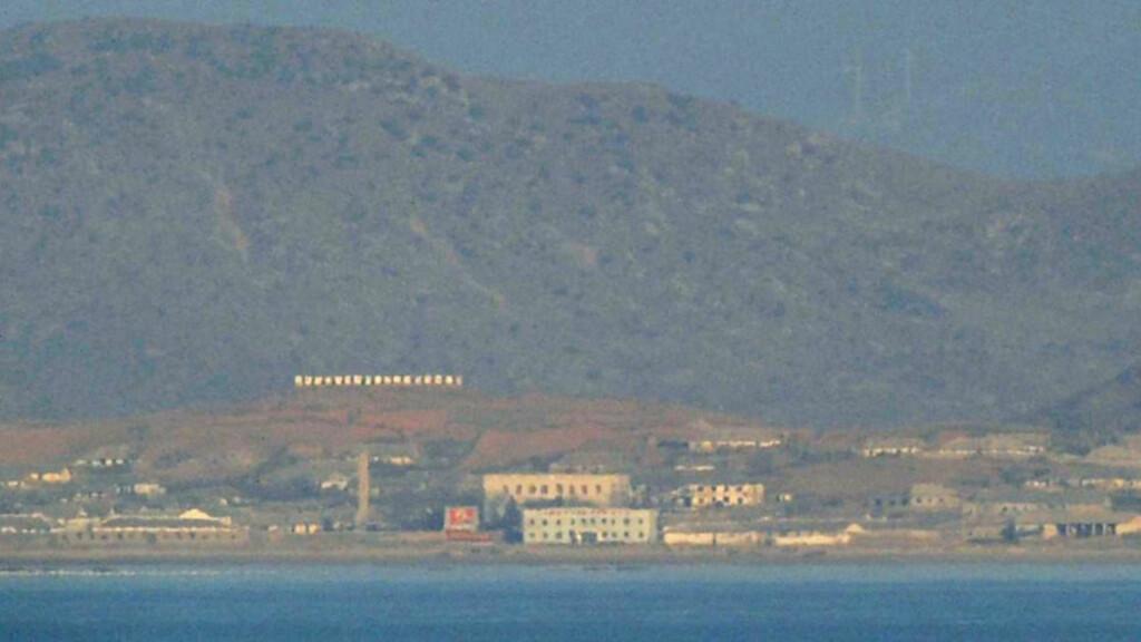 NORD-KOREA: Fra øya Yeonpyeong kan man se Nord-Korea. Nord-Korea mener Yeonpyeong tilhører nordkoreansk territorium. Foto: Reuters