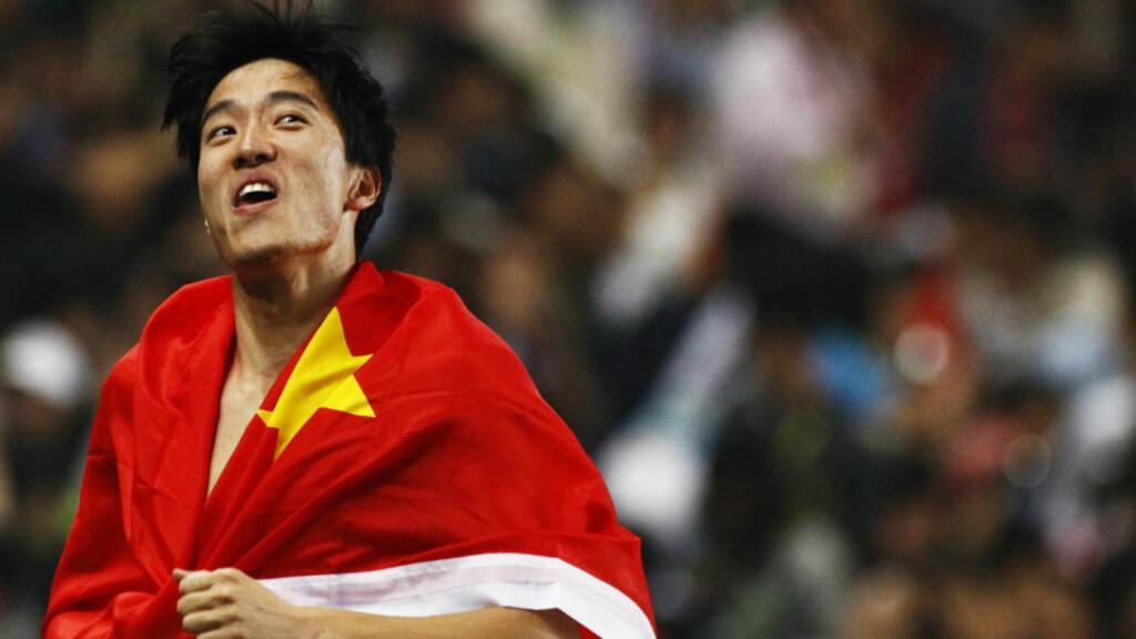 VANT I KINA: Liu Xiang fikk sin seier på hjemmebane da hjan vant hekkeløpet i Asialekene onsdag. Foto: REUTERS/David Gray