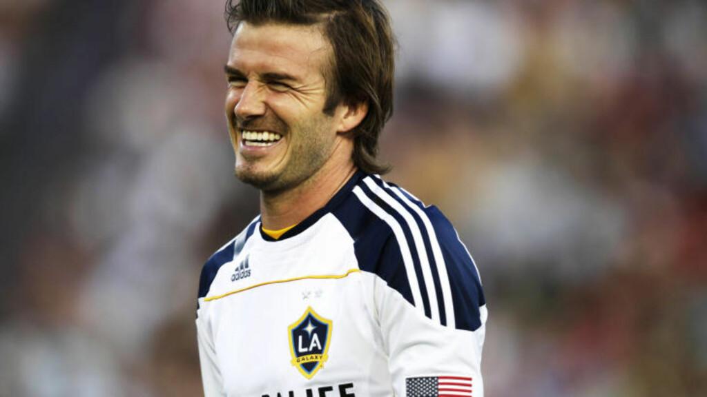 TIL ENGLAND IGJEN? David Moyes ønsker seg David Beckham. Foto: AFP PHOTO/KRYSTLE WRIGHT/Scanpix