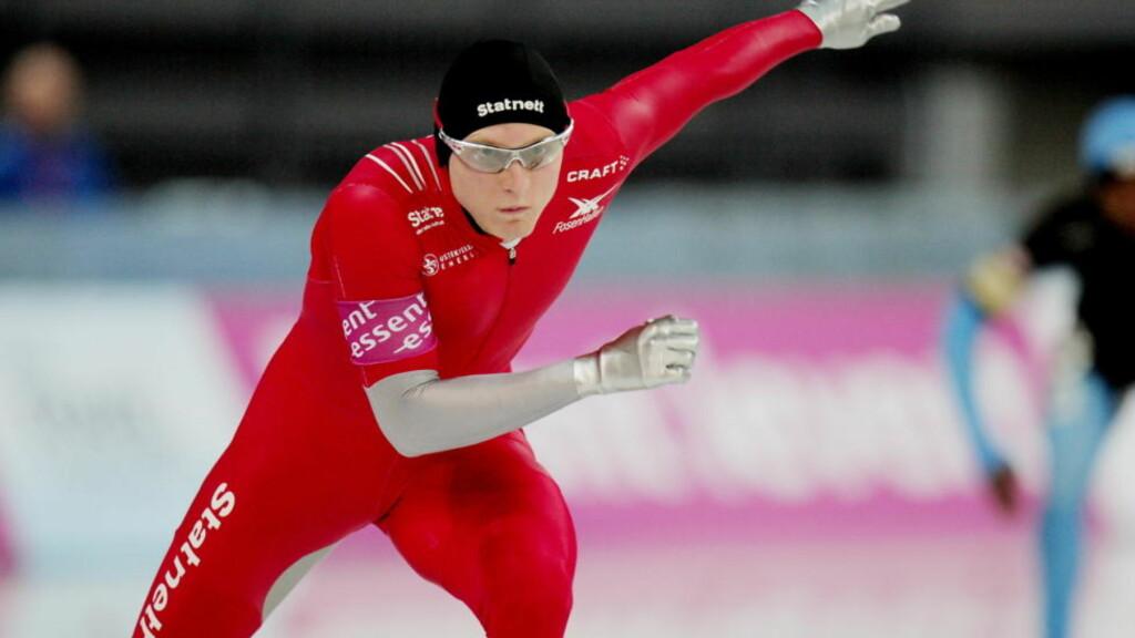 SKUFFET: Håvard Bøkko ble nummer fem på mennenes 1500-meter i Vikingskipet i Hamar i dag. Foto: Stian Lysberg Solum, Scanpix
