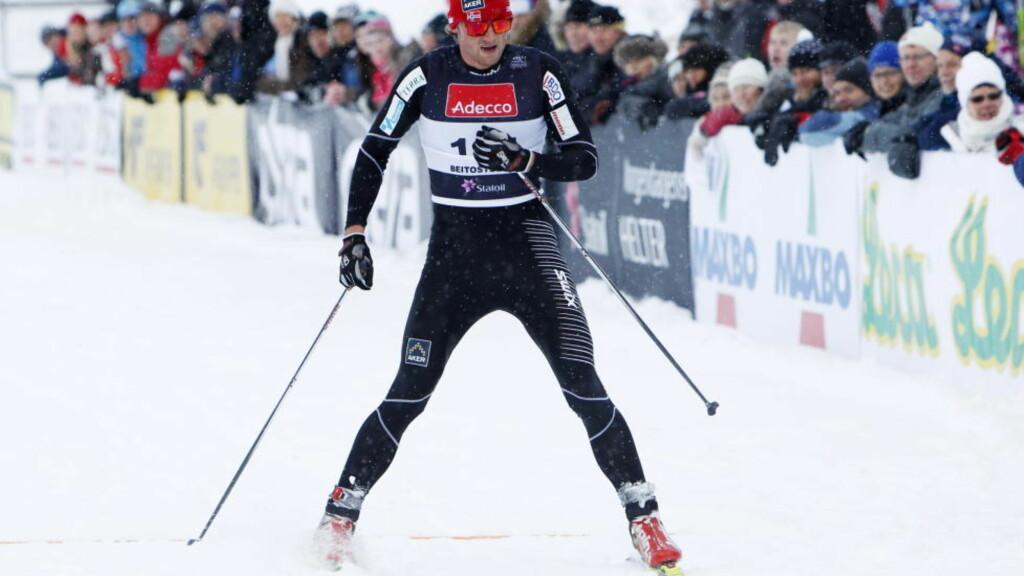 COMEBACK OM EN UKE: Petter Northug var ikke i form på Beitostølen. Her går han inn til 49. plass på 15-kilometeren. Foto: Håkon Mosvold Larsen, Scanpix
