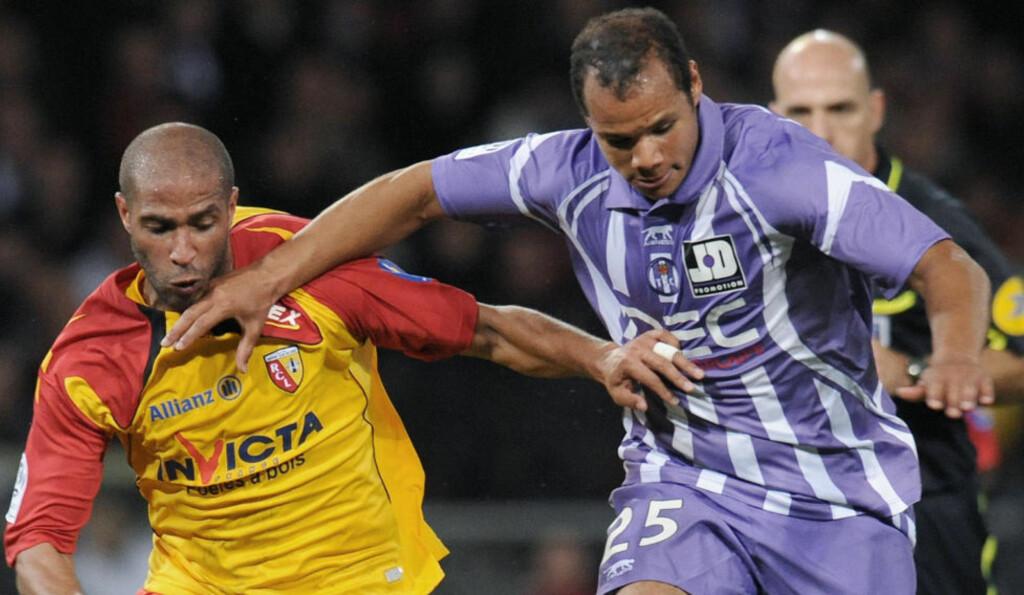 SCORET ETTER SJU MINUTTER: Daniel Braaten bidra til at Toulouse i kveld slo Auxerre 2-1. Arkivfoto: AFP PHOTO / REMY GABALDA