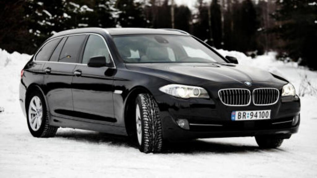 FOLKEFIRER'N: BMW 5-serie stasjonsvogn, med herlige kjøreegenskaper. Foto: SVEINUNG U. YSTAD