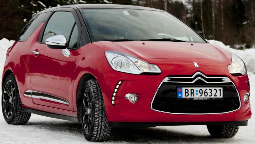 FOLKETS FAVORITT: Den spenstige designbilen Citroën DS3 fikk overlegent flest stemmer. Foto: SVEINUNG U. YSTAD