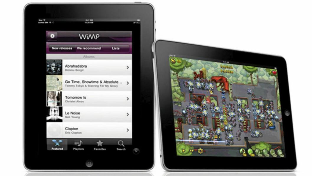POPULÆR: I dag lanseres iPad i Norge. Ryktebørsen hevder nå at iPad 2 er klar for produksjon. FOTO: Produsent