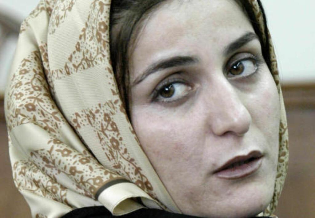FAMILIEN UTFØRTE HENRETTELSEN: Shahla ble i morgentimene i dag hengt. Familien til kvinnen hun angivelig skal ha drept var blant dem som utførte henrettelsen.Foto:  AFP PHOTO