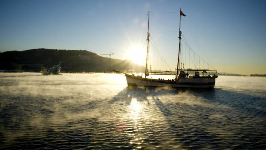 IKKE AKKURAT KARIBIEN:  Men vakkert i indre Oslofjord i dag, også. FOTO: ØISTEIN NORUM MONSEN.