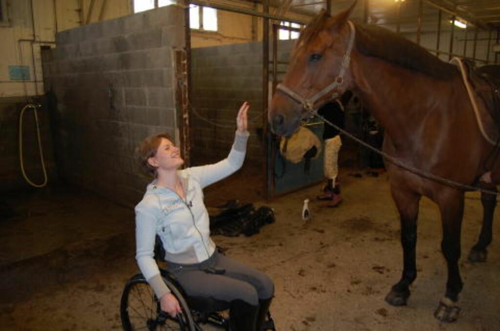 I STALLEN: Hesten Luthar var Mariette Garborgs følgesvenn i en årrekke. Foto: Asle Hansen