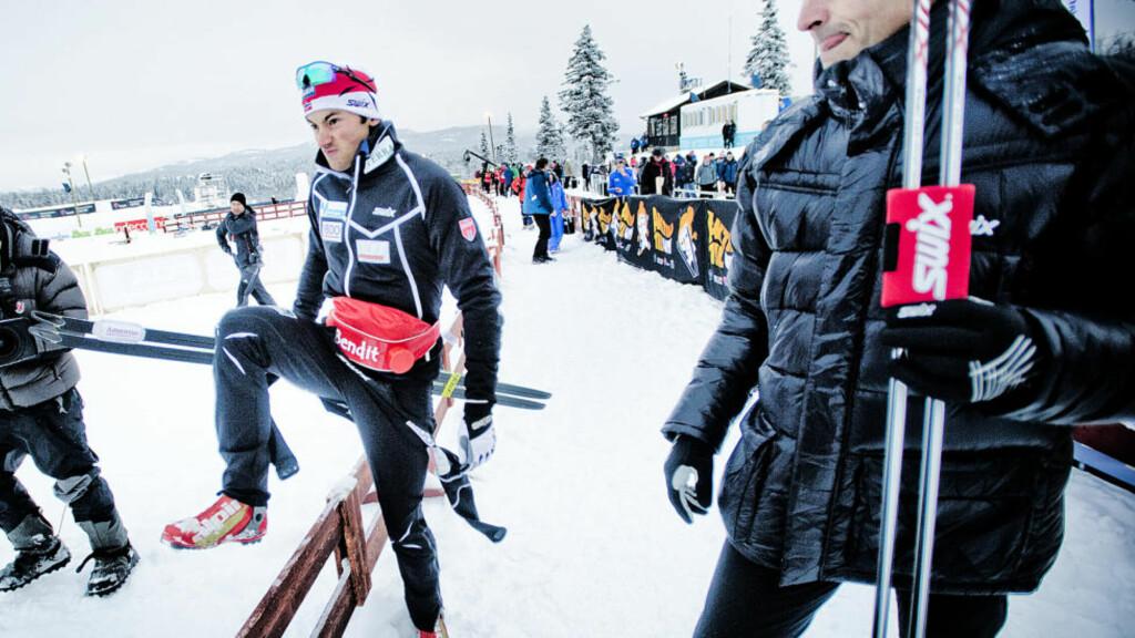 KLAR FOR LIKSOM-COMEBACK: Petter Northug går 30 kilometer fellesstart i friteknikk på lørdag. - Det skal ikke være så mange som slår ham hvis han er i normalt gjenge, sier sportslig leder Vidar Løfshus. Foto: Thomas Rasmus Skaug / Dagbladet