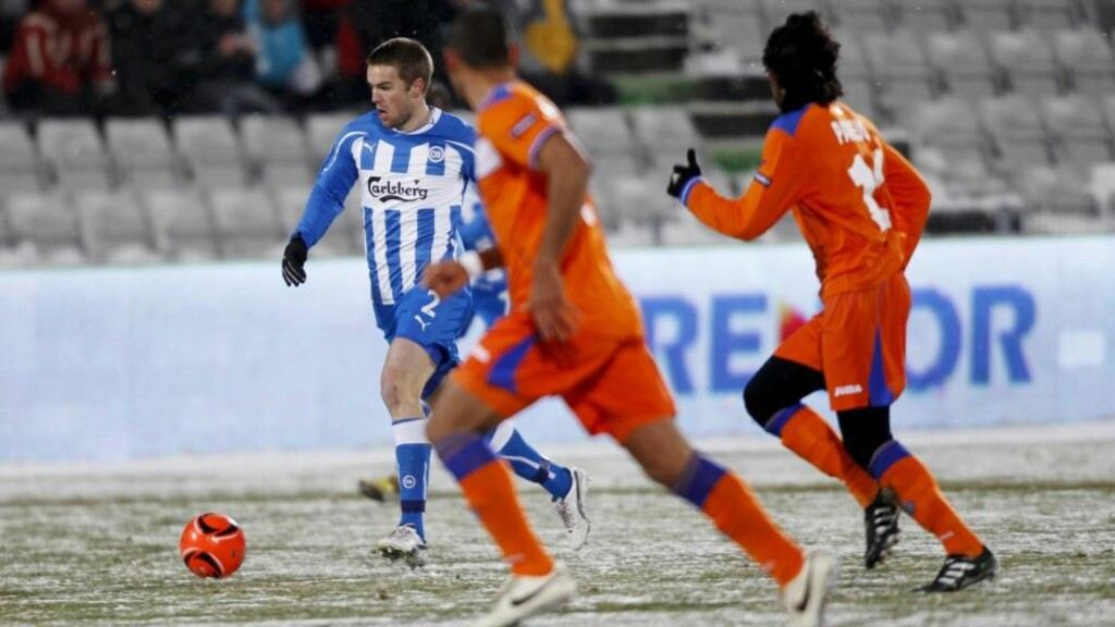 HOLDT IKKE: Espen Ruud og Odense BK spilte uavgjort hjemme mot Getafe, men fikk ikke hjelpen de trengte av Stuttgart.Foto: SCANPIX/AP/Polfoto/ Anders Brohus
