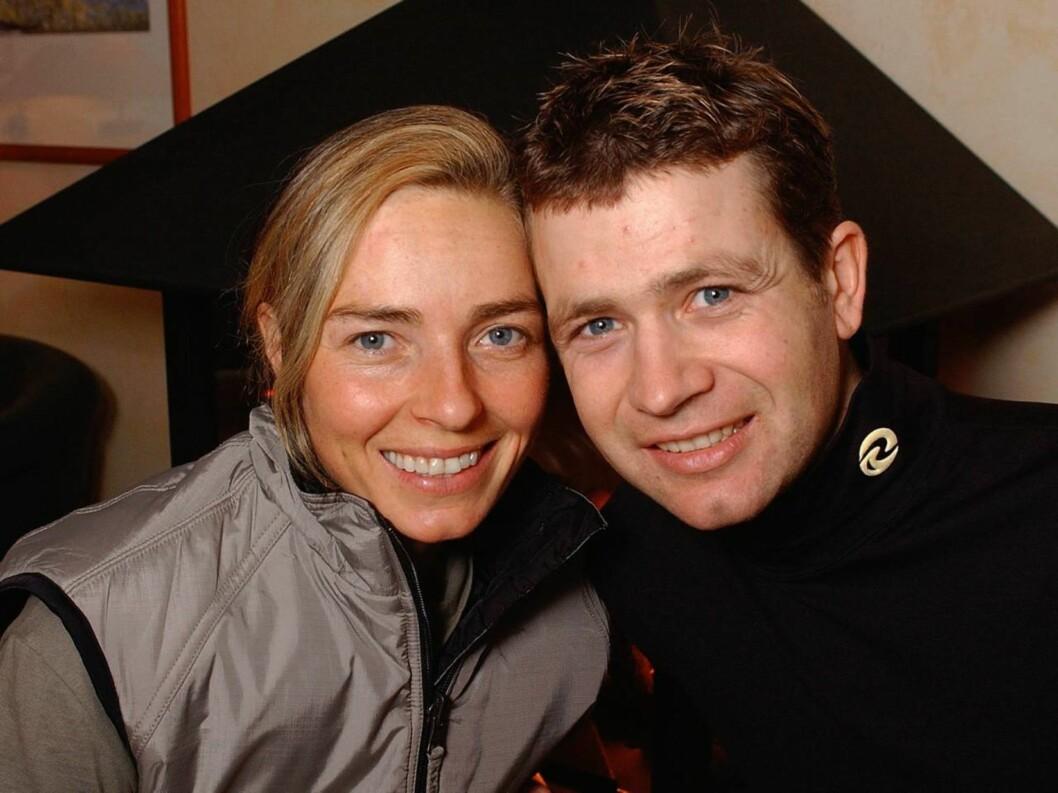 PAR 5: Skiskytterparet Ole Einar Bjørndalen og Nathalie Santer har trent aktivt hele livet.  Foto: SCANPIX