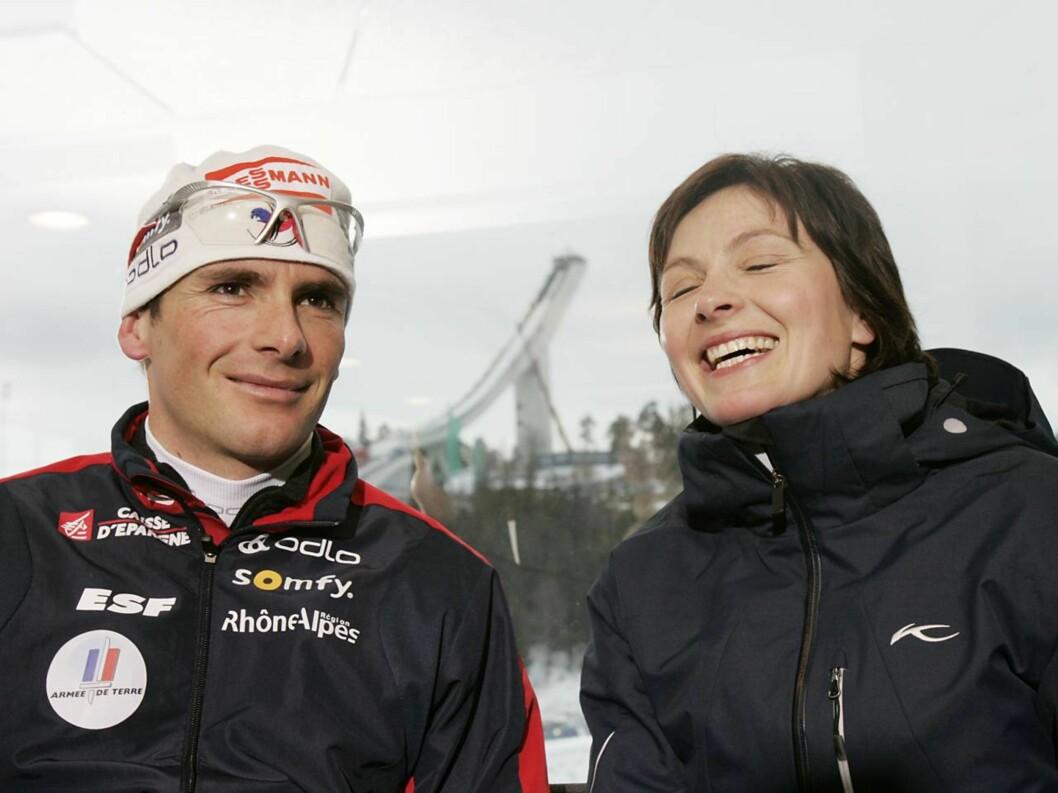PAR 13: Liv Grete og Rafael Poiree var begge store skiskytterstjerner i sin tid, og liker fortsatt å holde seg i form.  Foto: SCANPIX
