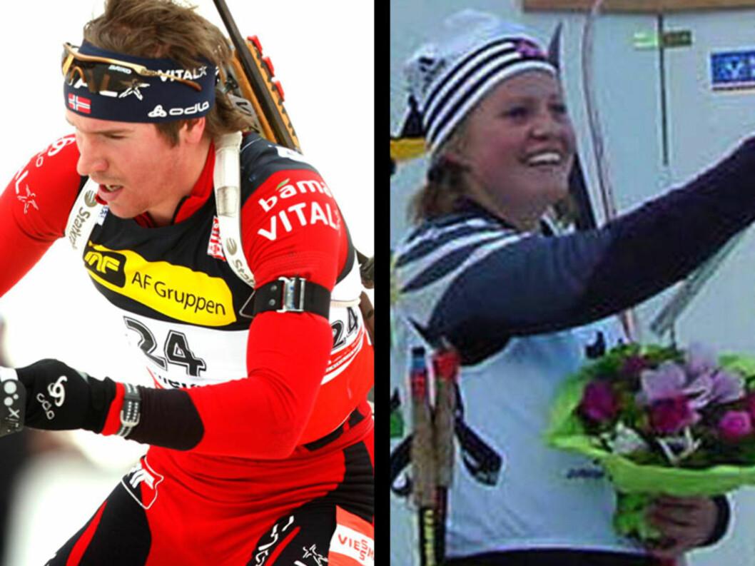PAR 15: Skiskytterparet Emil Hegle Svendsen og Kaja Eckhoff er blant Norges fremmadstormende unge stjerner innen skiskyting.