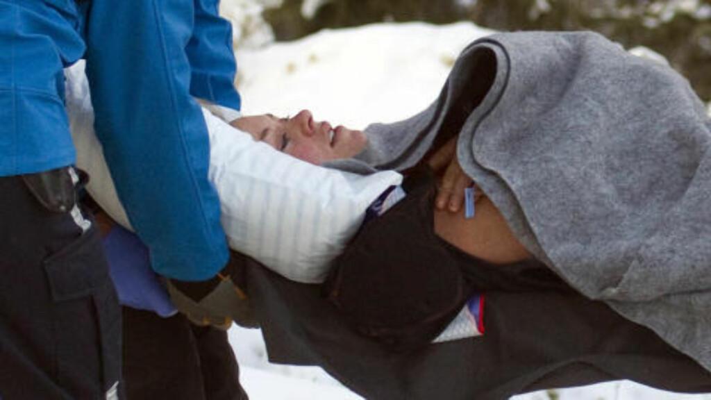 HAR DET BRA: Alcotts venninne Julia Mancuso ble med alpinisten på sykehuset, og rapporterer om en vellykket operasjon. Foto: REUTERS/Andy Clark