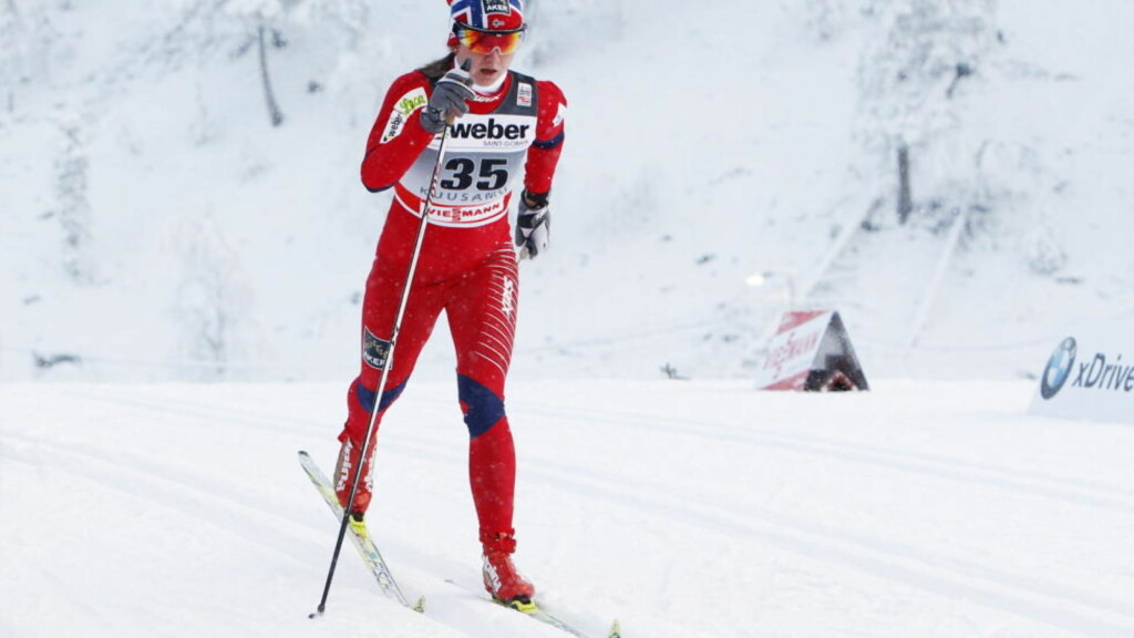 FJERDEPLASS: Celine Brun-Lie ble beste norske jente på fjerdeplass i verdenscupsprinten i fri teknikk i Düsseldorf lørdag. Foto: Håkon Mosvold Larsen / Scanpix