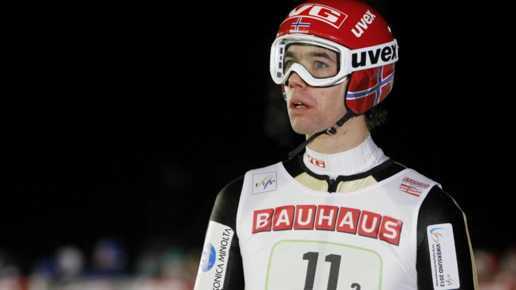LUKTET PÅ SEIEREN: Anders Bardal var nummer to etter 1. omgang, men ramlet ned til 7. plass.  Foto: Håkon Mosvold Larsen / Scanpix