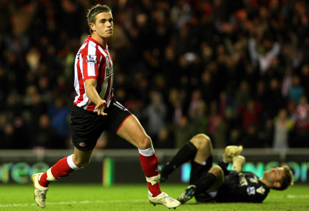 HEIT: Jordan Henderson er ønsket av flere storklubber i Premier League. Interessen blir neppe noe mindre etter at 20-åringen ble matchvinner mot West Ham.Foto: SCANPIX/AP Photo/Scott Heppell