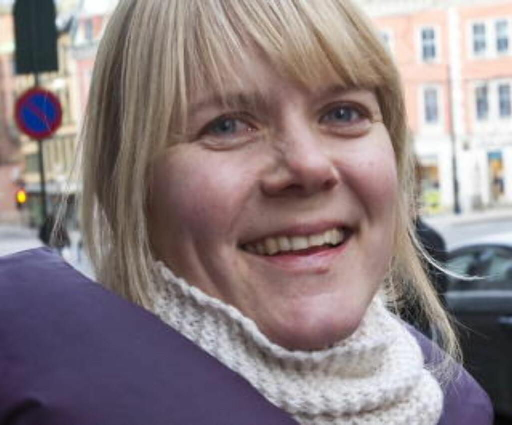 Trude Håskjold (33), prosjektleder i Redd Barna:1: Penger til arbeid for barn.2: Skritteller og nøkkelhenger.3: Jeg forventer ingen gave.