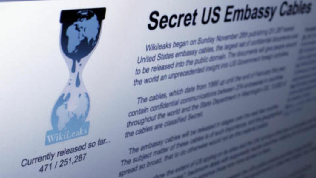WIKILEAKS: Wikileaks har planer om å lekke totalt 251 287 hemmelige ambassadedokumenter. Foto: AP Photo/Richard Drew/Scanpix