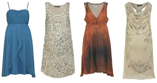 886784e9 KLAR FOR FEST: Blå kjole med spagettistropper og rynket overdel, kr 400, fra