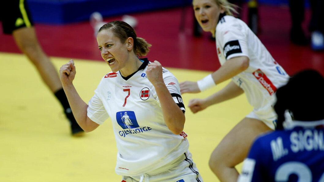 <strong>SCORET NORGES TRE FØRSTE:</strong> Tonje Nøstvold var i praktslag og scoret Norges tre første mål mot Frankrike.