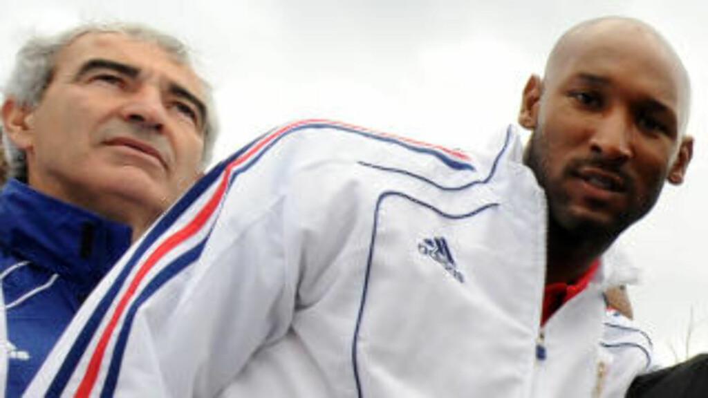 KRANGEL: Streiken oppsto etter at Nicolas Anelka skjelte ut trener Raymond Domenech. Foto: AFP/ FRANCK FIFE