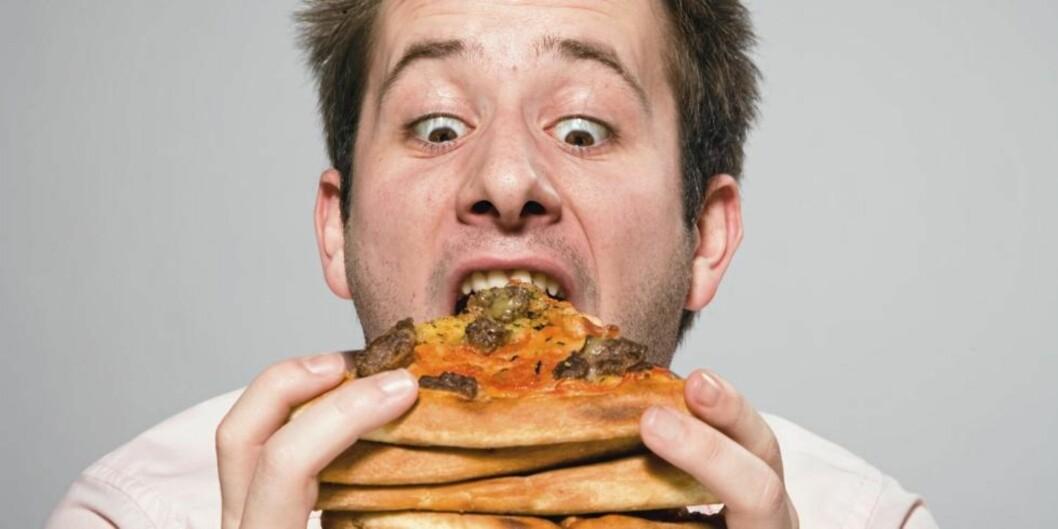 SKRUBBSULTEN: Tarmene dine kan lure deg til å tro at du er mer sulten enn du egentlig er. Illustrasjonsfoto: www.colourbox