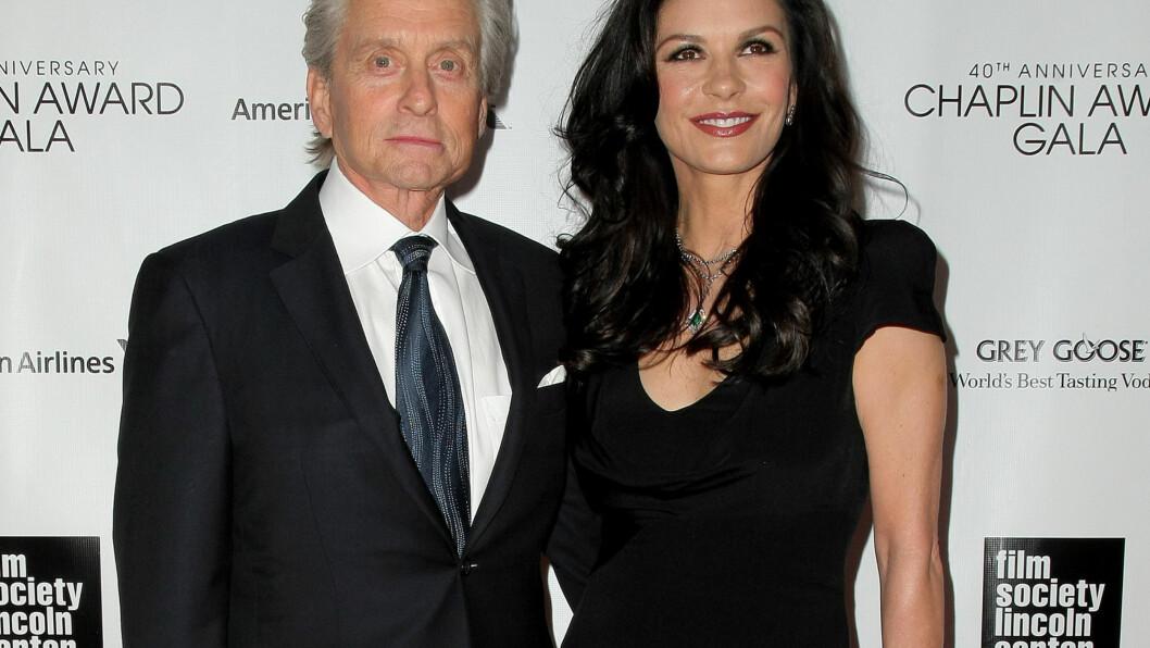 VANSKELIG TID: Michael Douglas og kona Catherine Zeta-Jones ble tidligere i år separert etter 13 års ekteskap. Foto: UPI