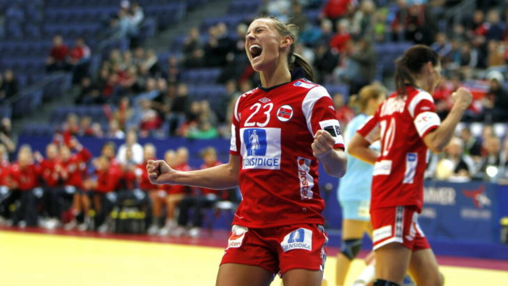 FIRE KONTRINGSMÅL: Camilla Herrem scoret fire kontringsmål mot Slovenia onsdag kveld. Foto: GORM KALLESTAD/SCANPIX