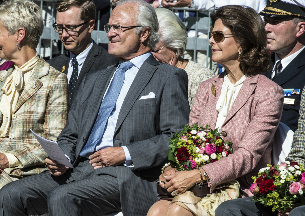 FIKK KRITIKK: Kong Carl Gustaf fikk kritikk for svarene han ga da prinsesse Madeleines graviditet ble kjent. Foto: All Over