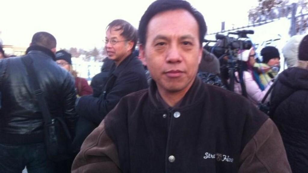 IKKE OVERRASKET:  Chin Jin var ikke overrasket over at de kinesiske myndighetene ikke ville ta i mot underskriftene. MMS: Arnhild Aass Kristiansen