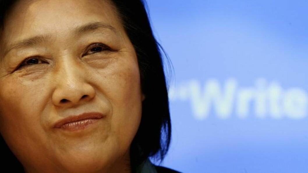 FRAKTET TIL FLYPLASS: Gao Yu. Foto:     AFP/SCANPIX