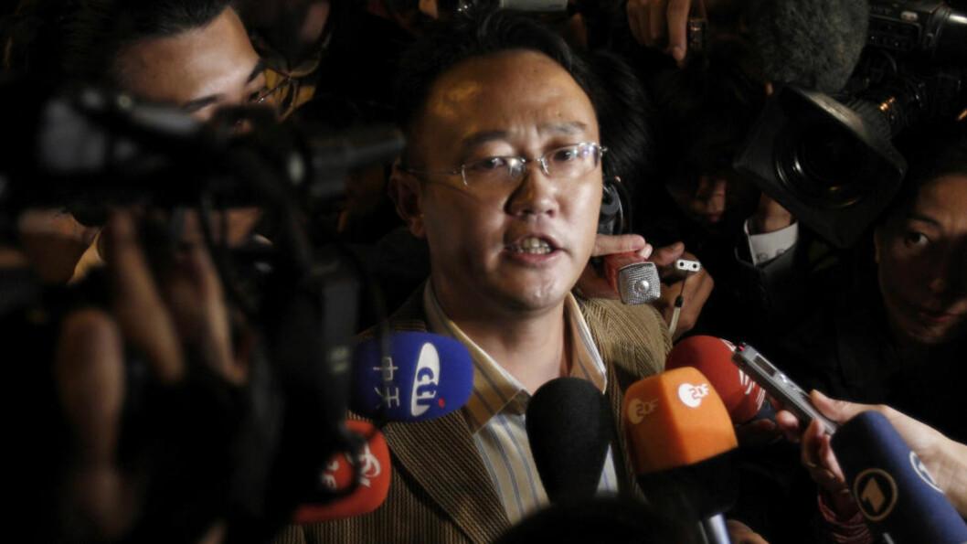 XIAOBO-VENN: Mo Zhixu kan ringe ut, men ikke motta telefoner. I går skal han ha blitt bortvist til sin hjemby Leshan. Foto: AP/Scanpix