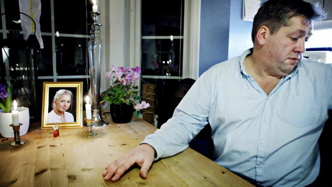 DYRT: Pål Andre Thronsen ble nektet støtte til bistandsadvokat, og har selv brukt flere hundre tusen kroner etter at datteren Pernille Marie Thronsen ble drept i Budapest i august. Nå kan det gå mot en lovendring som gir nordmenn den samme rett til bistandsadvokat ute som hjemme. Foto: Nina Hansen / Dagbladet