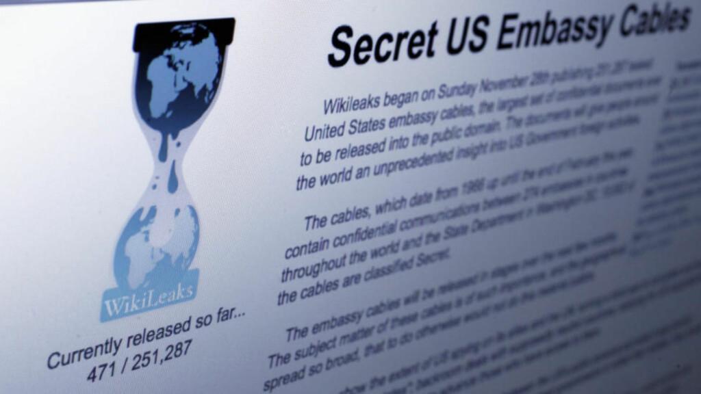 OPPRETTET  NORSK SIDE: En speilside er opprettet på det norske domenet wikileaks.no. Foto: Richard Drew/AP