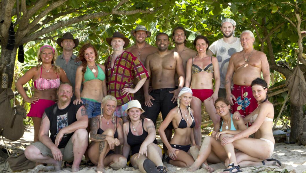 KLARE FOR ROBINSON: Disse deltagerene skal i høst kjempe om førsteplassen i «Robinsonekspedisjonen» på TV3. Foto: TV3