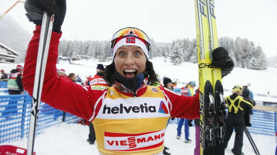 BEST I PROLOG: Marit Bjørgen var best i prologen på kvinnenes sprint i fri teknikk søndag. Fem av sju norske løpere er klare for kvartfinalene.  Foto: Kyrre Lien / Scanpix