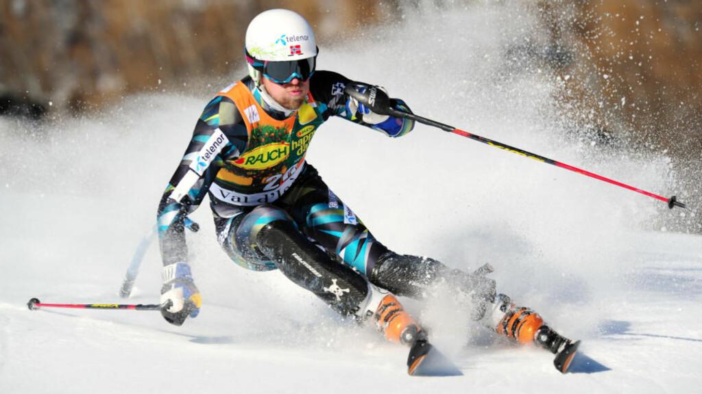 15. PLASS: Østerrikeren Marcel Hirscher vant mennenes verdenscupslalåm søndag. Lars Elton Myhre (bildet) ble beste norske på en 15.-plass.  AFP PHOTO / FRANCK FIFE